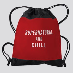 Supernatural and Chill Drawstring Bag
